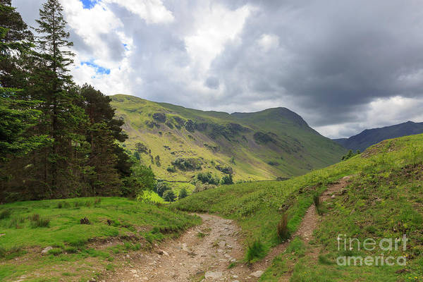 Glenridding Wall Art - Photograph - Grisedale From Lanty's Tarn In The Lake District by Louise Heusinkveld