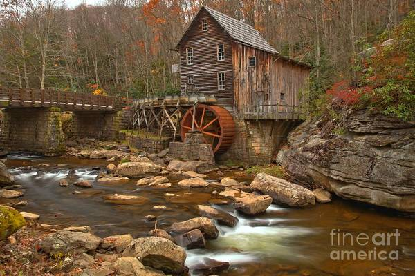 Photograph - Grist Mill Across The Creek by Adam Jewell