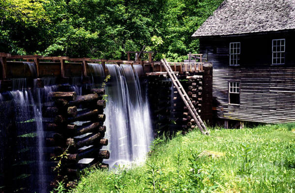 Photograph - Grist Mill And Water Trough by Paul W Faust -  Impressions of Light