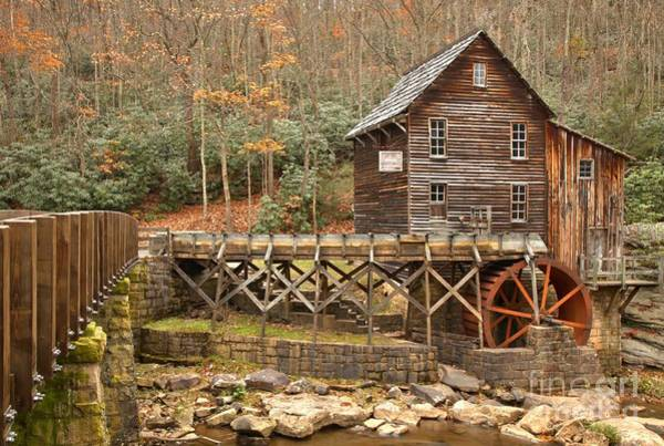 Photograph - Grist Mill Across Glade Creek by Adam Jewell