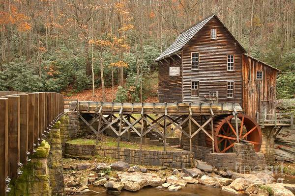 Photograph - Grist Mill At Babcock State Park by Adam Jewell