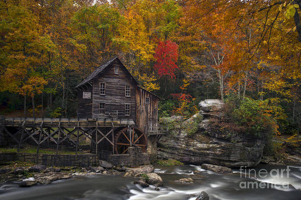 Photograph - Grist Mill At Babcock State Park In The Fall by Dan Friend