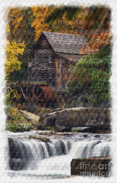 Photograph - Grist Mill From Below The Falls Paintography by Dan Friend