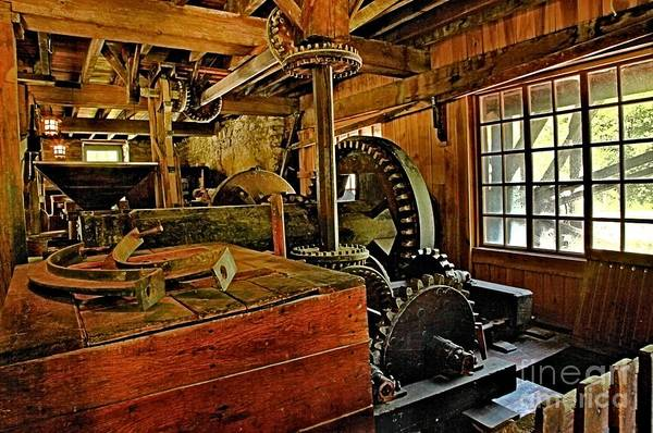Photograph - Grist Mill Gears by Adam Jewell