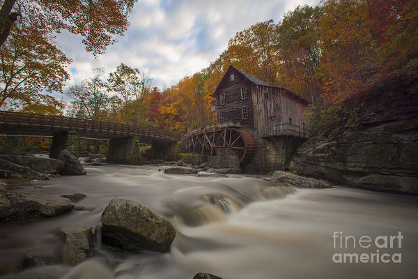 Photograph - Grist Mill Of Glade Creek by Dan Friend