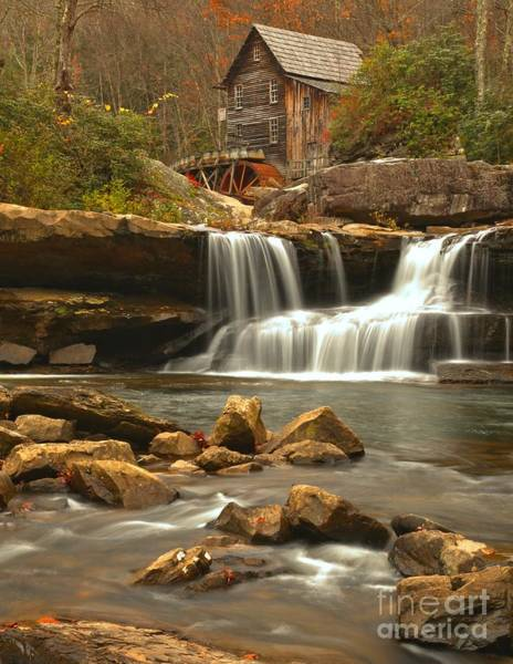 Photograph - Grist Mill On Glade Creek by Adam Jewell
