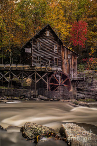 Photograph - Grist Mill On Glade Creek In Fall by Dan Friend