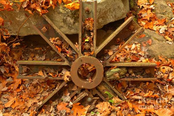 Photograph - Grist Mill Wheel by Adam Jewell