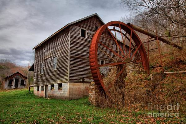 Photograph - Grist Mill With A Giant Wheel by Adam Jewell