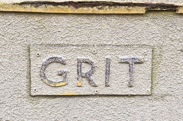 Trough Wall Art - Photograph - Grit Sign by Tom Gowanlock