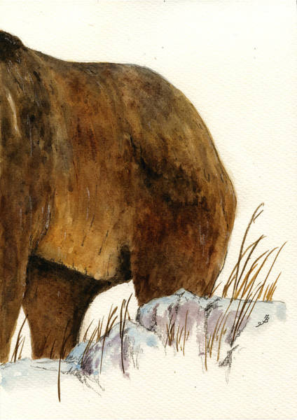 Alaska Wall Art - Painting - Grizzly Bear Second Part by Juan  Bosco