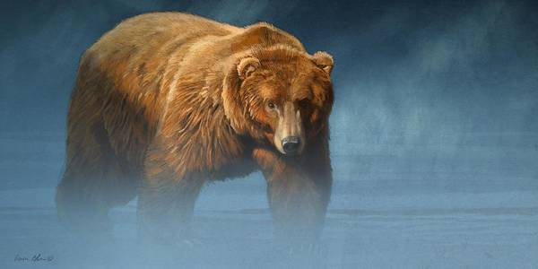 Wall Art - Digital Art - Grizzly Encounter by Aaron Blaise