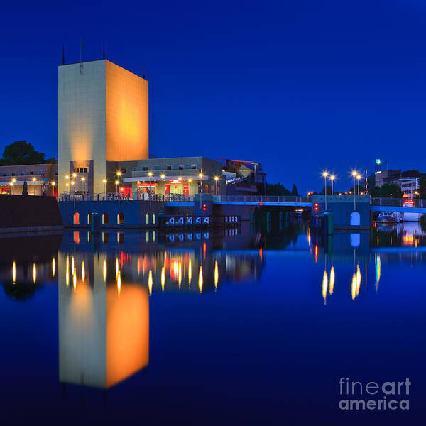 Bluehour Photograph - An Evening In Groningen by Henk Meijer Photography