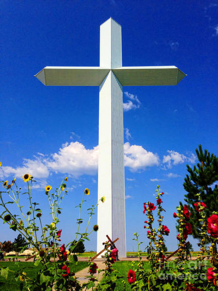 Photograph - Groom Texas Cross By Diana Sainz by Diana Raquel Sainz