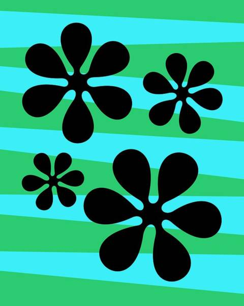 Digital Art - Groovy Flowers 2 by Donna Mibus