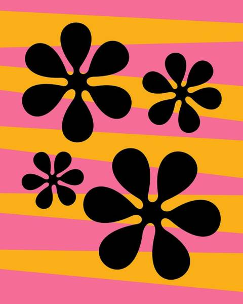 Digital Art - Groovy Flowers I by Donna Mibus