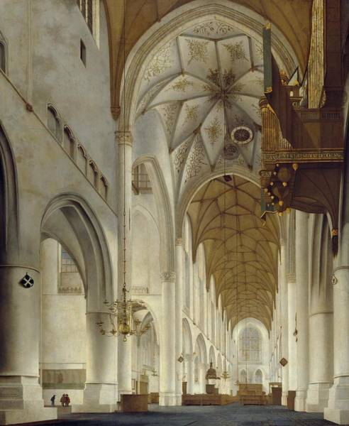 Church Of Scotland Wall Art - Painting - Grote Kerk by Pieter Jansz Saenredam