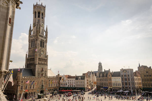 Photograph - Grote Markt Brugge by Paul Indigo