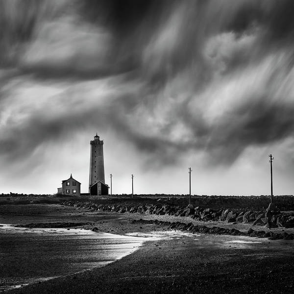 Wall Art - Photograph - Grotta Lighthouse by George Digalakis