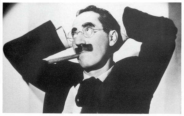 Wall Art - Photograph - Groucho Marx (julius Marx)  American by Mary Evans Picture Library