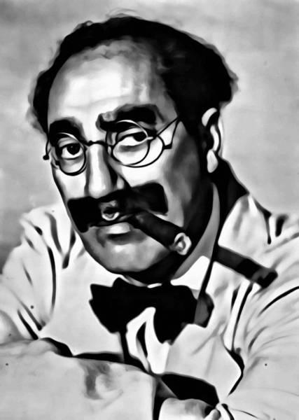 Painting - Groucho Marx Portrait by Florian Rodarte