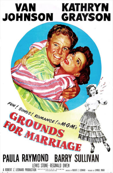 Van Johnson Photograph - Grounds For Marriage, Us Poster, Van by Everett