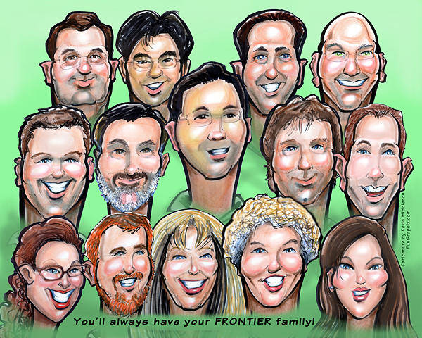 Digital Art - Group Gift Caricature by Kevin Middleton