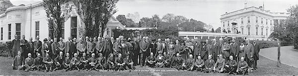 1921 Photograph - Group Including Einstein And Harding by Fred Schutz Collection