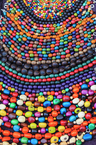 Buenos Aires Photograph - Group Of Beaded Necklaces For Sale by Stuart Westmorland