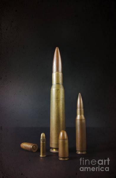 Several Wall Art - Photograph - Group Of Bullets by Carlos Caetano