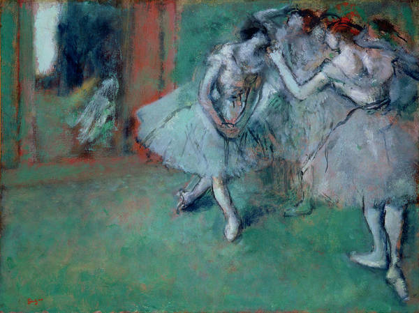 Practice Wall Art - Painting - Group Of Dancers by Edgar Degas