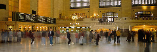 Wall Art - Photograph - Group Of People Walking In A Station by Panoramic Images