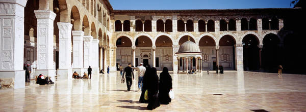 Damascus Photograph - Group Of People Walking by Panoramic Images