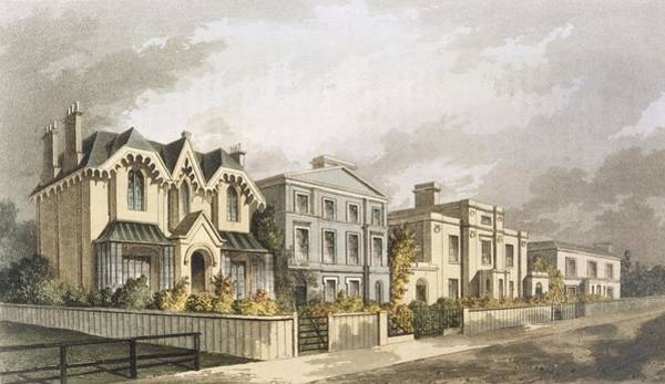 Villa Drawing - Group Of Villas In Herne Hill by English School