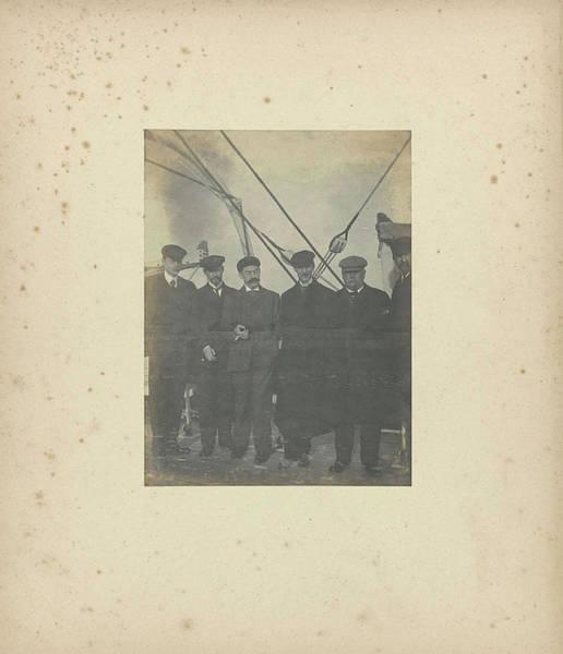 Wall Art - Drawing - Group Portrait Of Six Men On A Ships Deck by Artokoloro