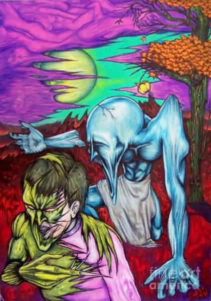 Tmad Drawing - Growing Evils by Michael  TMAD Finney