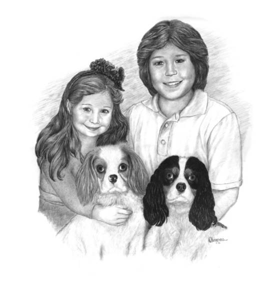 Drawing - Growing Family by Joe Olivares