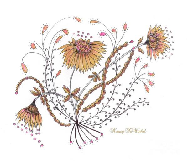 Wall Art - Drawing - Growing Joy by Nancy TeWinkel Lauren