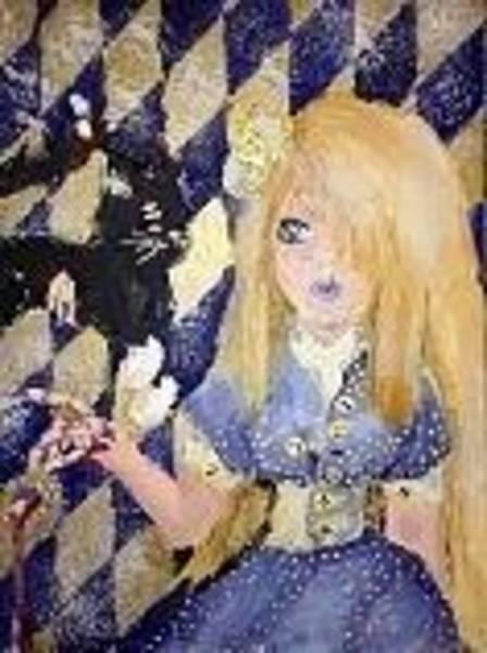 Zombie Cat Painting - Growing Up Wonderland by Cierra Hulet