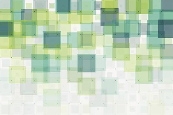Growth Geometric Squares Pattern Art Print by FrankRamspott