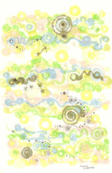 Organic Form Drawing - Growth by Regina Valluzzi