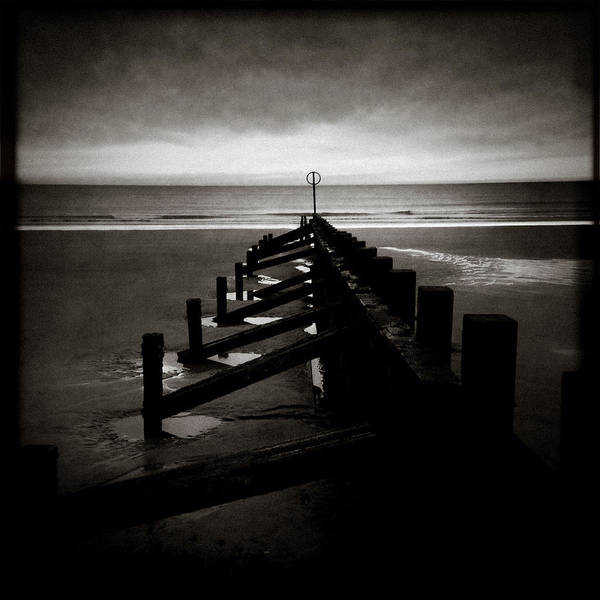 Iphoneography Wall Art - Photograph - Groyne 1 by Dave Bowman