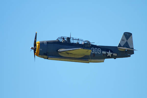 Airshow Photograph - Grumman Avenger (with Folding Wings by David Wall