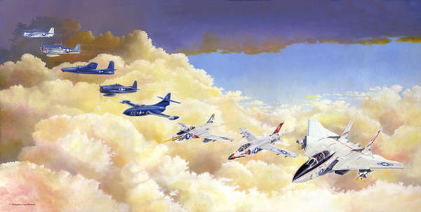 Grumman Cats Fantasy Formation Art Print