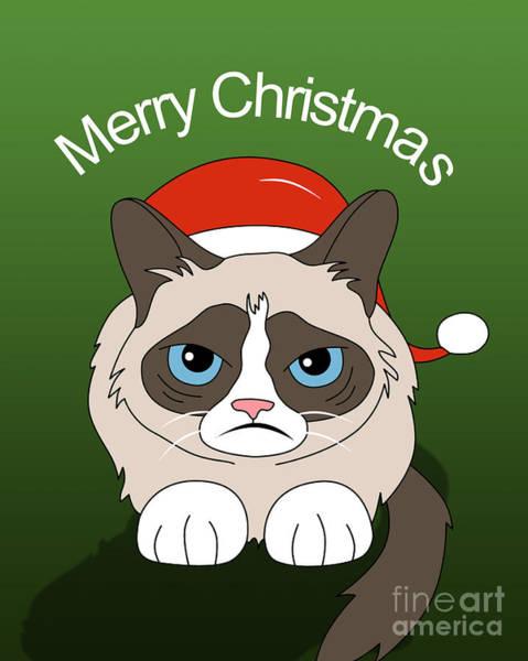 Cool Cat Digital Art - Grumpy Cat by Mark Ashkenazi