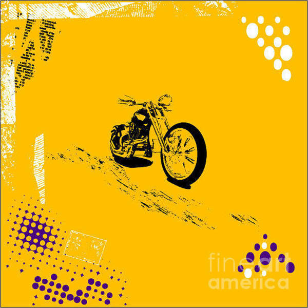 Biker Wall Art - Digital Art - Grunge Background Vector by Elanur Us