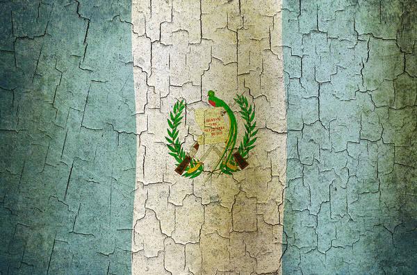 Guatemala Flag Digital Art - Grunge Guatemala Flag by Steve Ball