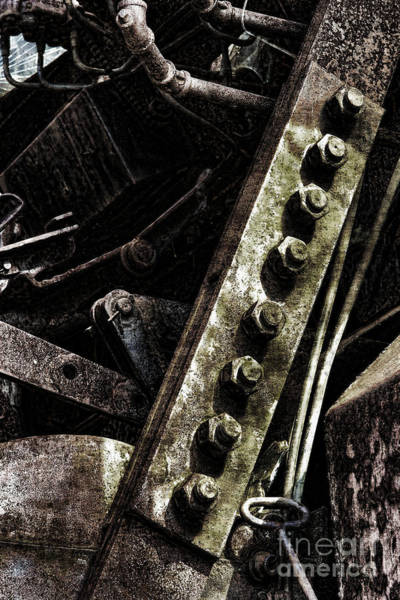 Photograph - Grunge Industrial Machinery by Olivier Le Queinec