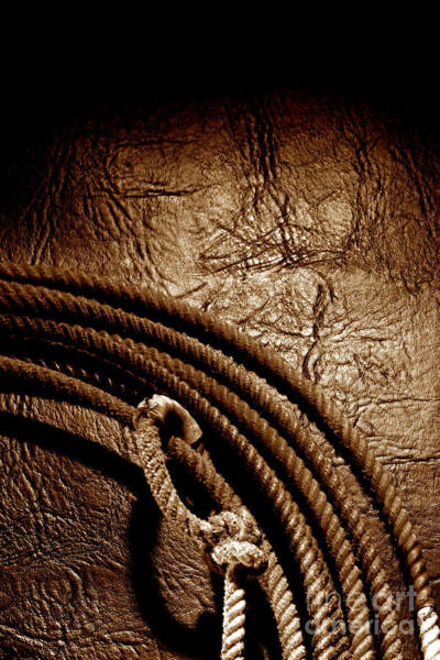 Roping Photograph - Grunge Lasso by Olivier Le Queinec