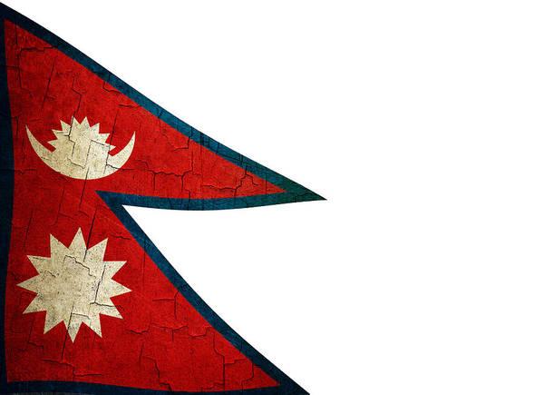 Grime Digital Art - Grunge Nepal Flag by Steve Ball